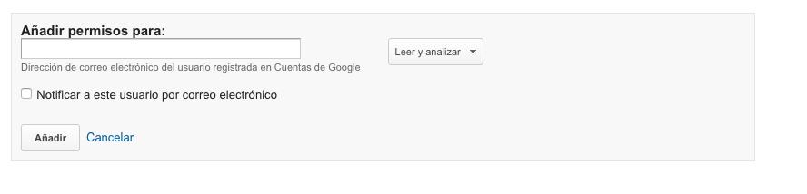 permisos google analytics