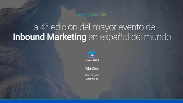 Conferencia Inbound Marketing 2016 – #IMMI16