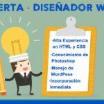 OFERTA DE TRABAJO – Diseñador de html y CSS