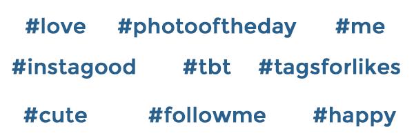 hashtag comunes